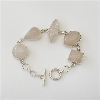 Indian Bracelet with Rose Quartz